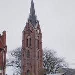 Wieża kościoła ewangelickiego w Ochli