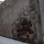 Fragment północnej części murów obronnych