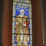 Witraż przedstawiający św. Piotra – 1985 r.